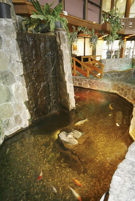 Atrium Waterfall with Fish - Fireside Inn & Suites West Lebanon