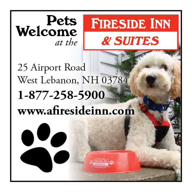 Pets welcome at the Fireside Inn